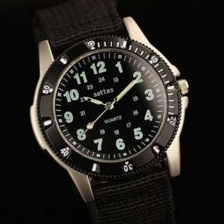 New Black Wrist Quartz Army Mens Watch Sports Military