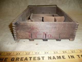 Antique Primitive Wooden Star Egg Carrier & Tray Old Wood Box Crate 1