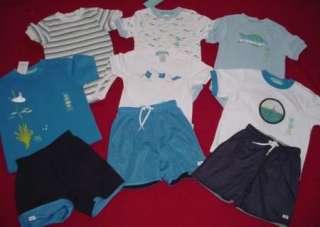 NWT EUC Gymboree DEEP SEA shirt shorts 9pc LOT 12 18 24