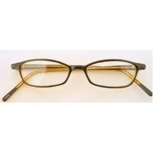 Zoom (E11) Reading Glasses, Rectangular Dark Brown Exterior/Light