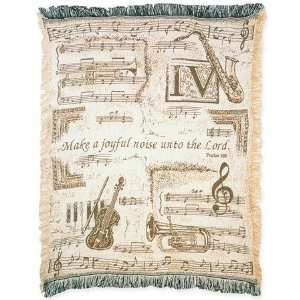 Make a Joyful Noise, Tapestry Throw: Home & Kitchen