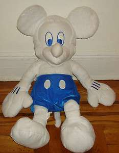Walt DISNEY STORE White MICKEY MOUSE Large BIG Plush DOLL Unique RARE