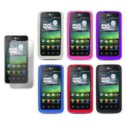 Mobile G2x/ LG Optimus 2X Silicone Case with Screen Protector