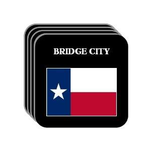 US State Flag   BRIDGE CITY, Texas (TX) Set of 4 Mini