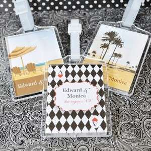 Elite Design Personalized Acrylic Luggage Tags Party Favors