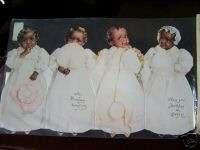 African American Babies Victorian Birthday card LRGE