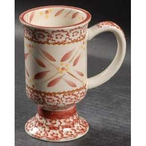 Temp Tations Old World Cranberry Pedestal Mug, Fine China