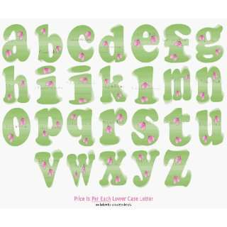 Letter Name Wall Sticker baby nursery girls room decor decoration