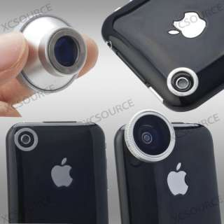 185° Detachable Fish Eye Fisheye Lens for iPhone 4S 4G 4 iTouch