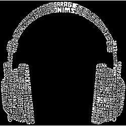 Los Angeles Pop Art Headphones Mens Hooded Sweatshirt