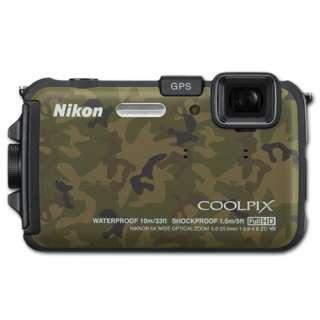 Nikon COOLPIX AW100 (Camouflage) 16MP Waterproof Shockproof Digital