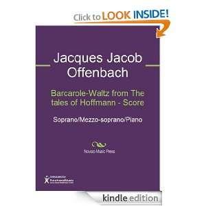 Barcarole Waltz from The tales of Hoffmann   Score Sheet Music (Score