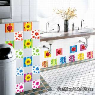 CP 41 Square Patterns, Wall Mural Sticker Decals Decor