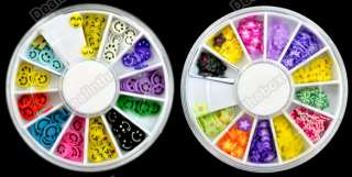 Nail Art DIY 3D Mix FIMO Tip Polymer Clay Slices Decoration New