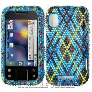 Bling Diamante Rhinestone Hard Case Cover For Motorola Flipside MB508