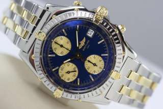BREITLING WINDRIDER CHRONOMAT 18K GOLD STAINLESS STEEL CHRONOGRAPH