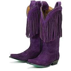 Lane Boots Womens Phringe Purple Boots