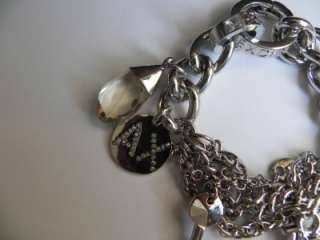 New Armani Exchange AX Womens Logo Charm Bracelet