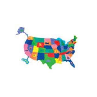 Chenille Kraft Company Giant Wonderfoam Us Puzzle Map