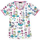 Cherokee Scrub Top 6960 HKSC Scribble Hello Kitty