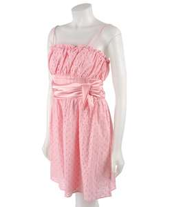 Blush Pink Eyelet Spaghetti Strap Dress