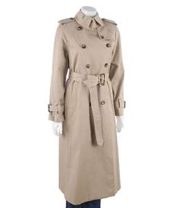 London Fog Womens Long Trench Coat