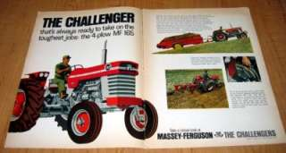 1968 Massey Ferguson MF 165 Tractor Original Color Ad