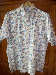 Reyn Spooner Wine Drinker Gourmet Food Grape Hawaiian Aloha Shirt EUC
