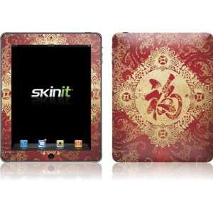 Red Chinese character Blessing skin for Apple iPad