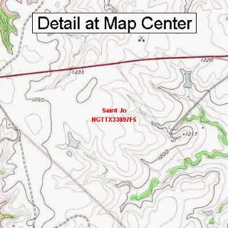 USGS Topographic Quadrangle Map   Saint Jo, Texas (Folded/Waterproof