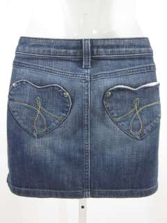 JUICY COUTURE Girls Heart Pocket Denim Skirt Sz 14