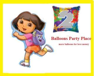 DORA THE EXPLORER 1ST 2nd 3rd 4th birthday party balloons decoration