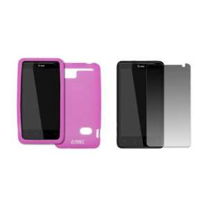 EMPIRE AT&T HTC Holiday Hot Pink Silicone Skin Case Cover