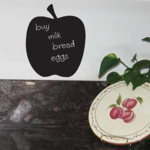 APPLE Chalk Board Vinyl Sticker Decal Wall Fruit Decor