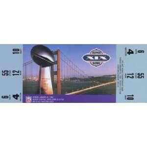 Collectible Phone Card 10m Super Bowl XIX Ticket Repl. San Francisco