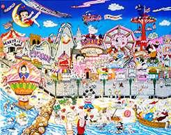 CHARLES FAZZINO BETTY BOOP, POPEYE, CONEY ISLAND 3D