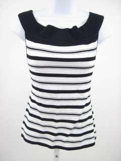 MONDI Navy White Striped Off Shoulder Sweater Top Sz 42