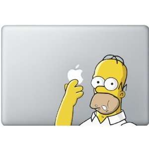 Homer Simpson Eating Apple Decal Electronics