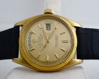 RARE ROLEX OYSTER PERPETUAL DAY DATE PRESIDENT 6611B CIRCA 1958 18KT