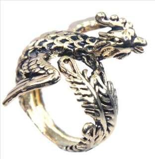 Vintage Phoenix Leaf Wing Feather Bird Gold Ring Sz 7