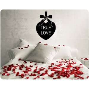 True Love Candy Heart Valentines Day Wall Decal Decor Words Large