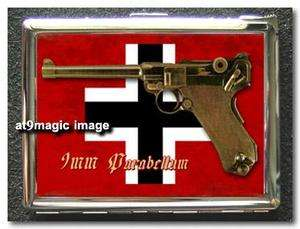 GERMAN Pistol Iron Cross Cigarette Case Holder Lighter
