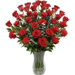Three Dozen Premium Long Stem Red Roses without Vase: