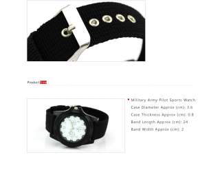 watch type fashion watches band material fabric band color black case