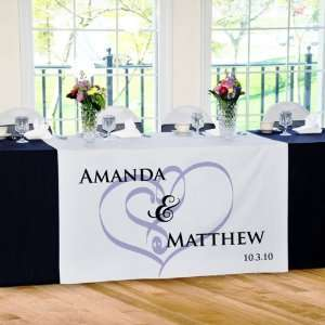 Embracing Hearts Wedding Reception Table Runner: Home & Kitchen