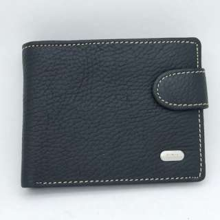 Genuine Leather Bifold Clutch Wallet Coin Purse Dollar Package