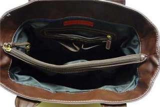 Tommy Hilfiger AMERICAN CLASSICS  BROWN Handbag Tote LOGO Bag