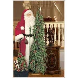 57 Ditz Father Christmas Santa w/ pre lit tree toy bag