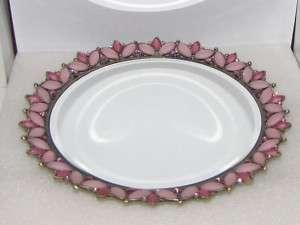 Pink Swarovksi Crystal Perfume Vanity Mirror Tray