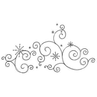 Penny Black Snow Scroll Rubber Stamp